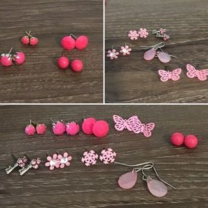 Lot of Light and Bright Pink earrings (never worn)